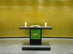 Paramentenwerkstatt St.Marienberg - Antependium in der Kapelle des Olympiastadions Berlin - Copyright (c) Aginmar