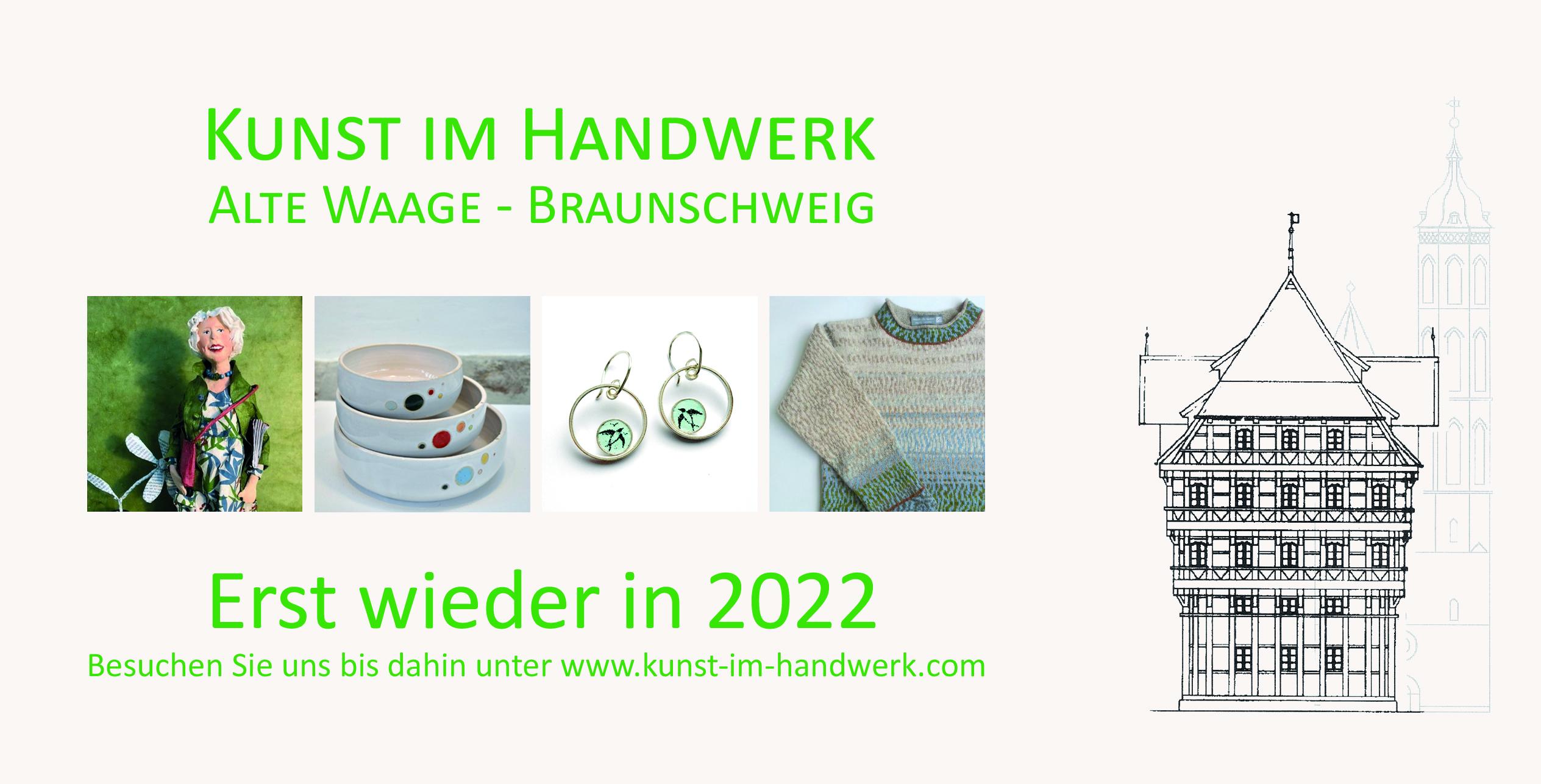 Kunst im Handwerk – Erst wieder 2022